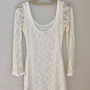 Charlotte Russe Dresses - Lace Ivory Cocktail Dress